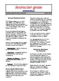 Newsletter - Winter 1999